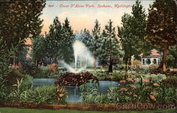 1910 Pond and Fountain