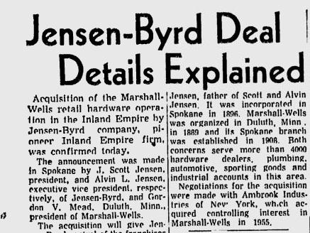 Jensen-Byrd buys the Marshall Wells Warehouse