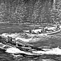 The Diamond Match Company's bateau on Priest River